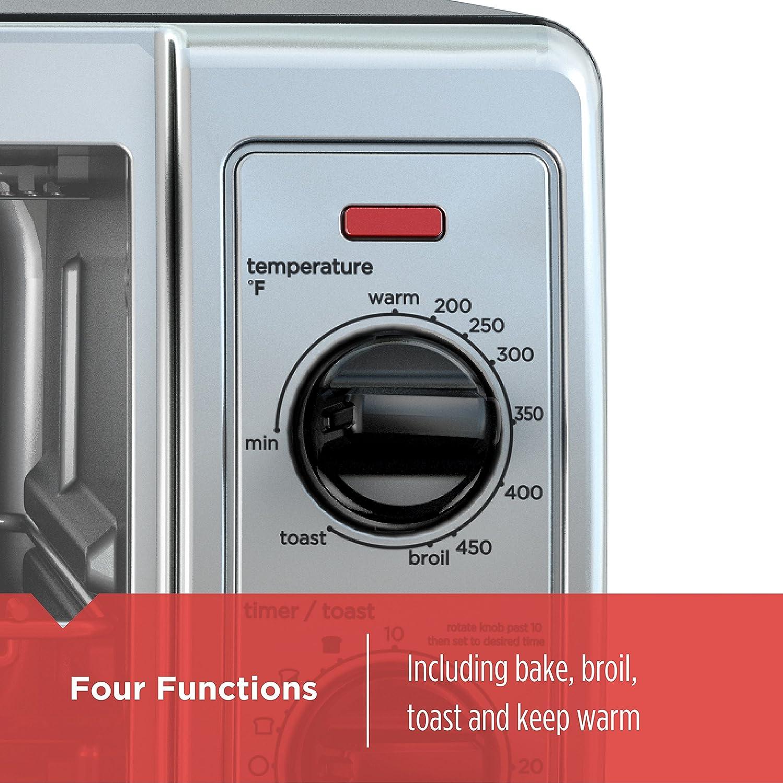 Amazon.com: BLACK+DECKER 4-Slice Toaster Oven with Easy Controls ...