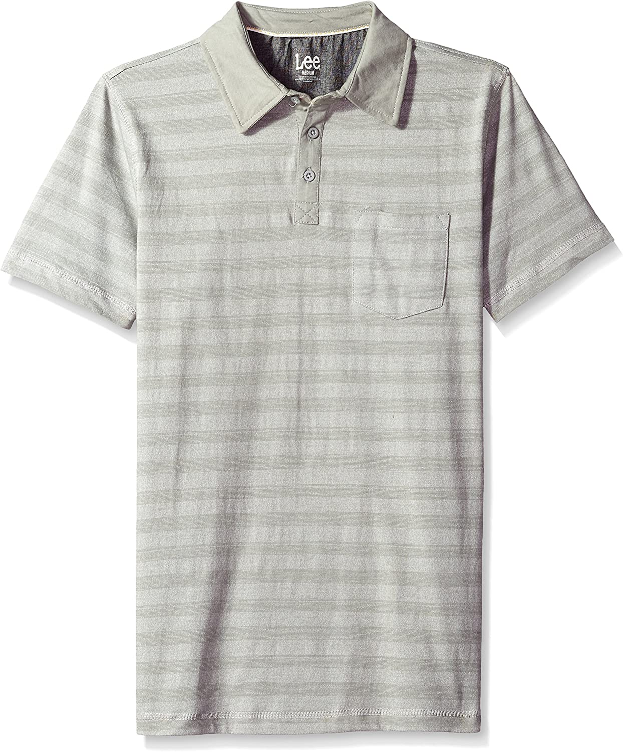 Marke Goodthreads Herren Short-Sleeve Striped Slub Polo