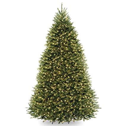 9ft Christmas Tree.National Tree 9 Foot Dunhill Fir Tree With 900 Clear Lights Hinged Duh 90lo