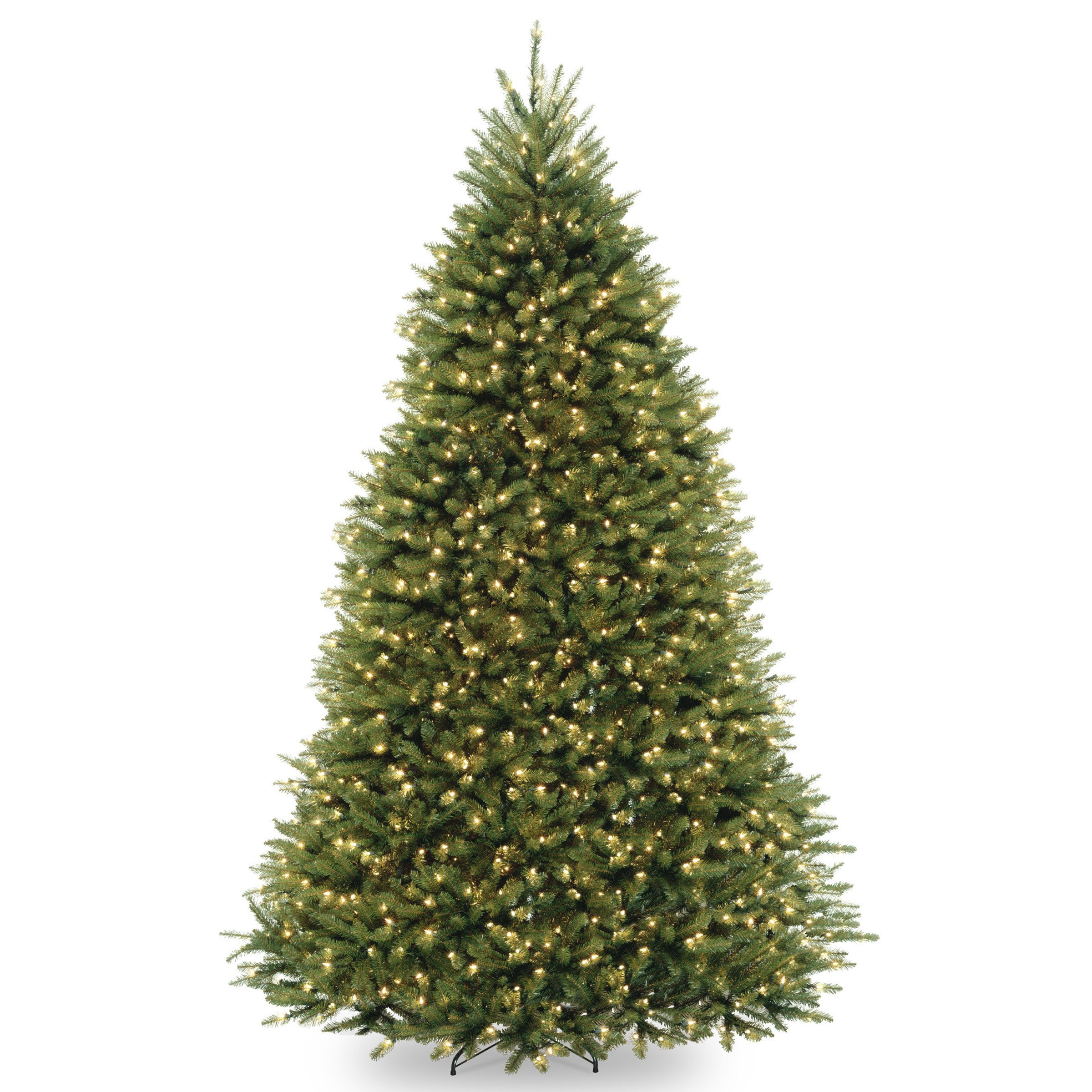 National Tree 9 Foot Dunhill Fir Tree with 900 Clear Lights, Hinged (DUH-90LO) by National Tree Company