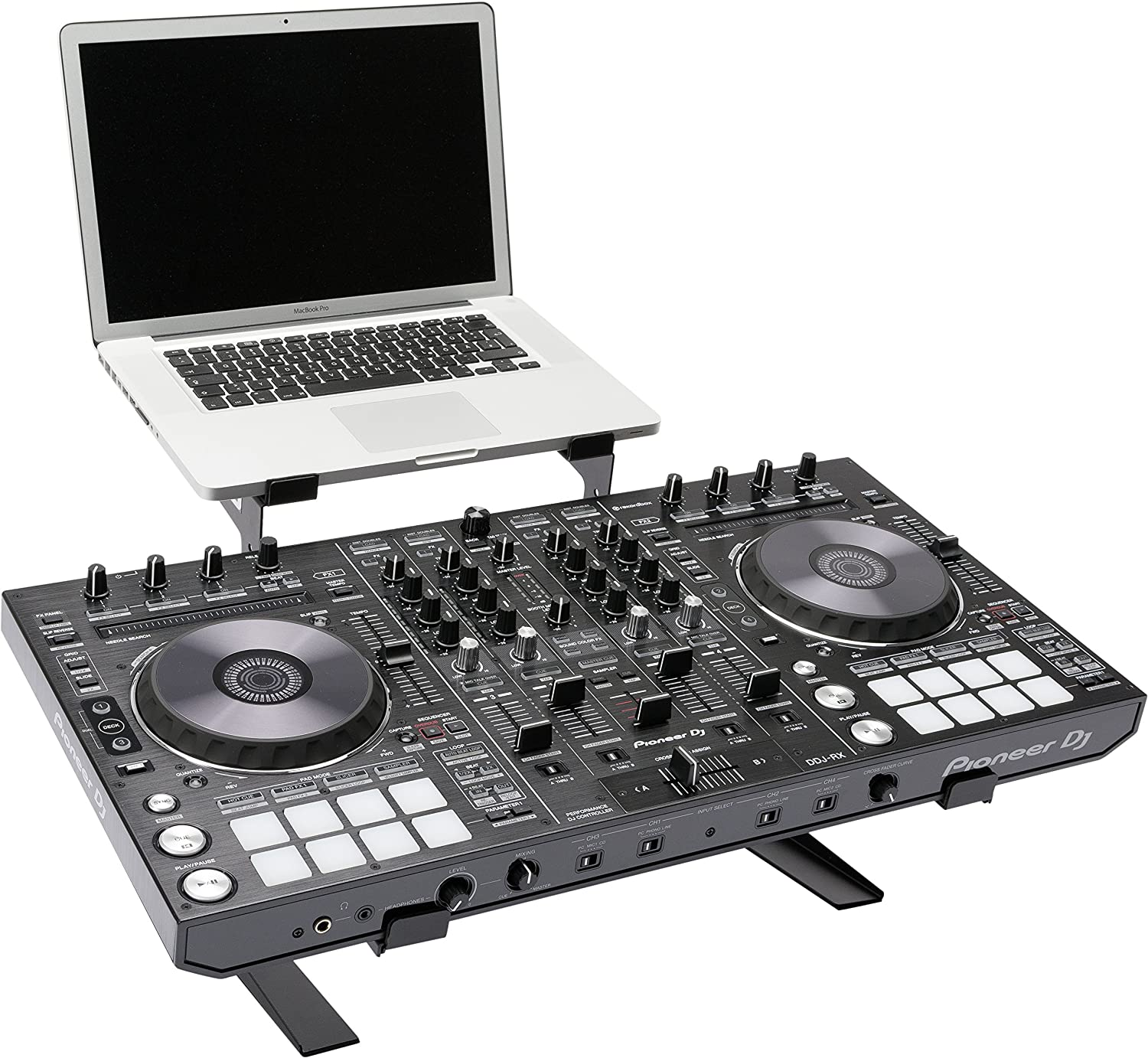 MAGMA 75541 Control Stand II - for DJ Controller and Laptops, Black