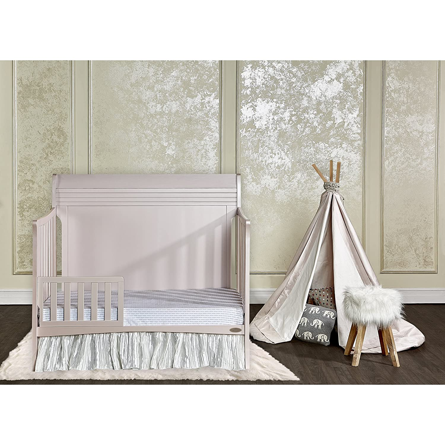 Amazon.com : Dream On Me Bailey 5 In 1 Convertible Crib, Blush Pink : Baby