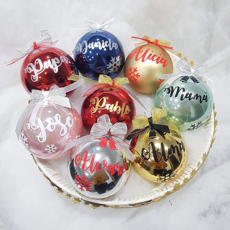 Bolas de Navidad personalizadas para decorar el árbol - Adornos navideños Ornamento Decoraciones colgantes de navidad- Elige Tu Regalo.: Amazon.es: Handmade