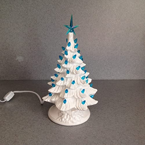 CHRISTMAS DECORATION Vintage style Ceramic CHRISTMAS TREE 11 inches tall a  holiday lighted decoration Bright white - Amazon.com: CHRISTMAS DECORATION Vintage Style Ceramic CHRISTMAS