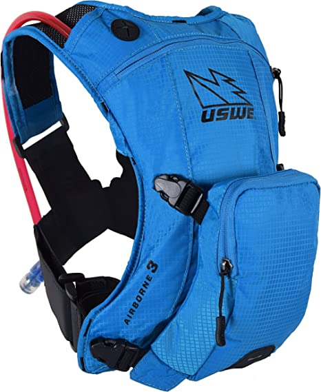USWE Sports Niños Airborne 3 Junior Hydration Pack, Blue, Fits All ...