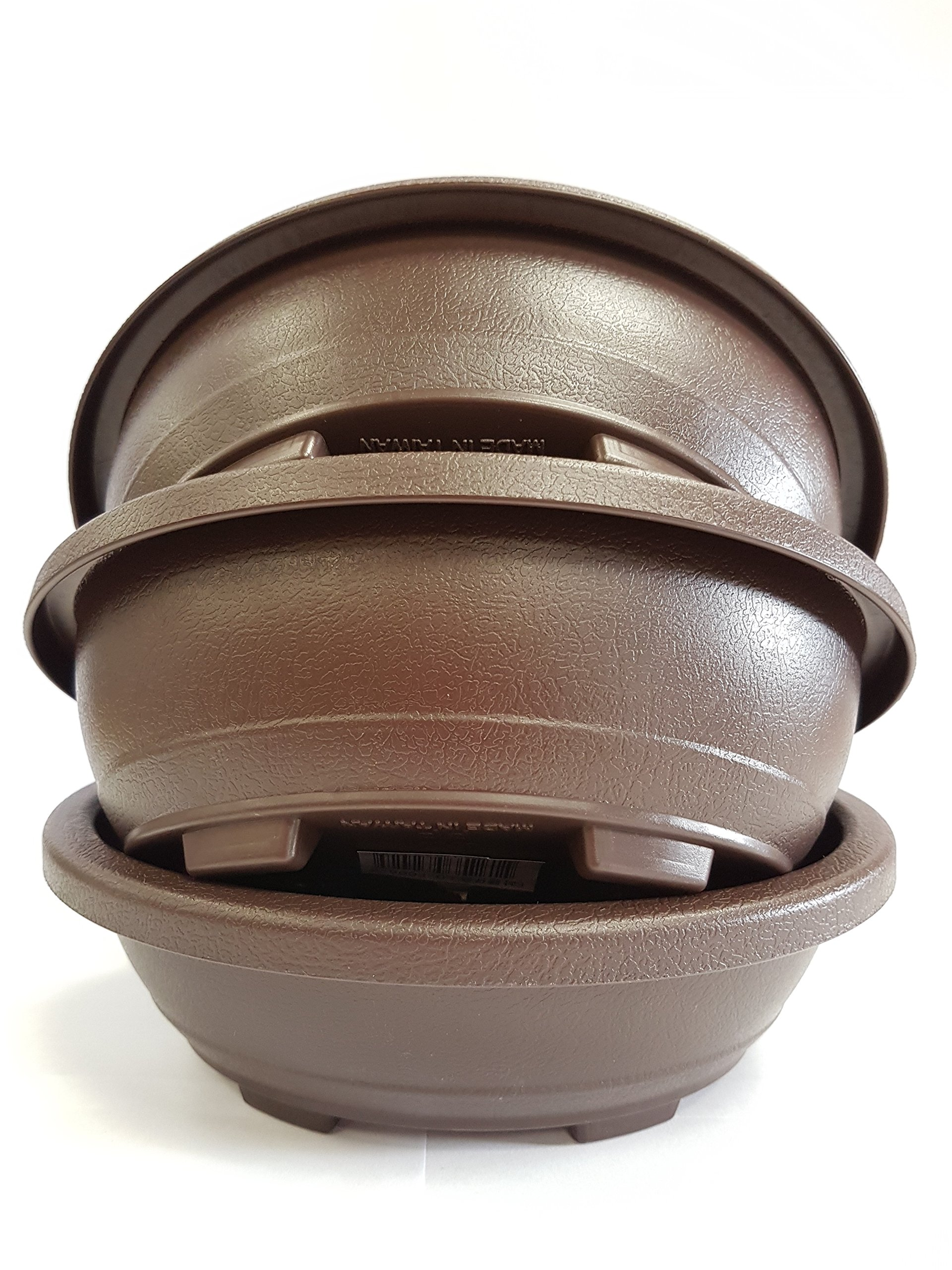 3 X Oval Plastic Bonsai Pots Buy Online In Faroe Islands At Faroe Desertcart Com Productid 59636558