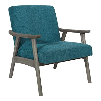 Groovy Osp Designs Sca51 By4 Oscar Arm Chair Azure Uwap Interior Chair Design Uwaporg