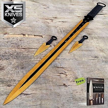Amazon.com: SURVIVAL STEEL NINJA - Juego de cuchillos de 2 ...