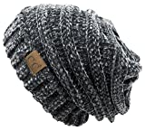 09659ff53de Funky Junque H-6100-85070 Oversized Slouchy Beanie - Chenille Charcoal