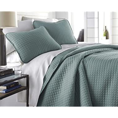 Southshore Fine Linens - Vilano Springs Oversized  3 Piece Quilt Set, Full / Queen, Steel Blue (Teal)