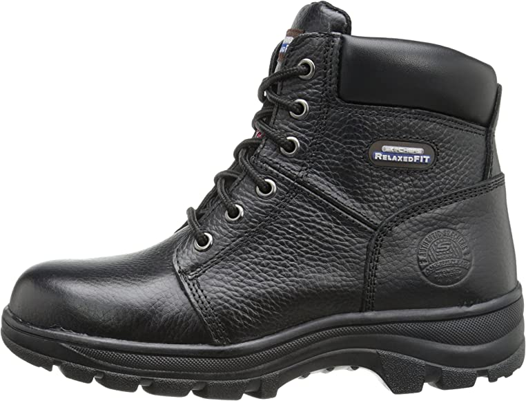 587596b28218 Skechers for Work Women's Workshire Peril Boot, Black, 5 M US ...