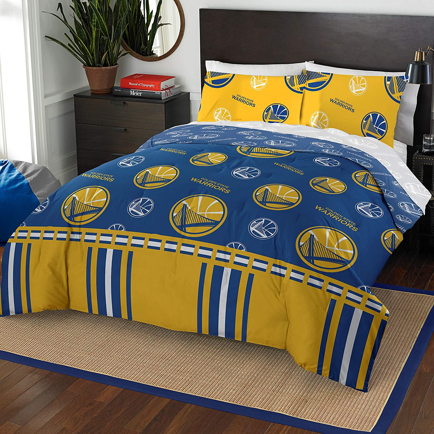 Northwest NBA Golden State Warriors Queen Bed in a Bag Complete Bedding Set #528520859