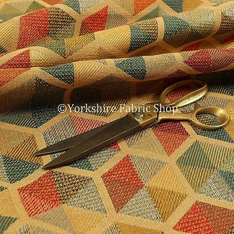 Tela de chenilla para tapicería, diseño geométrico hexagonal ...