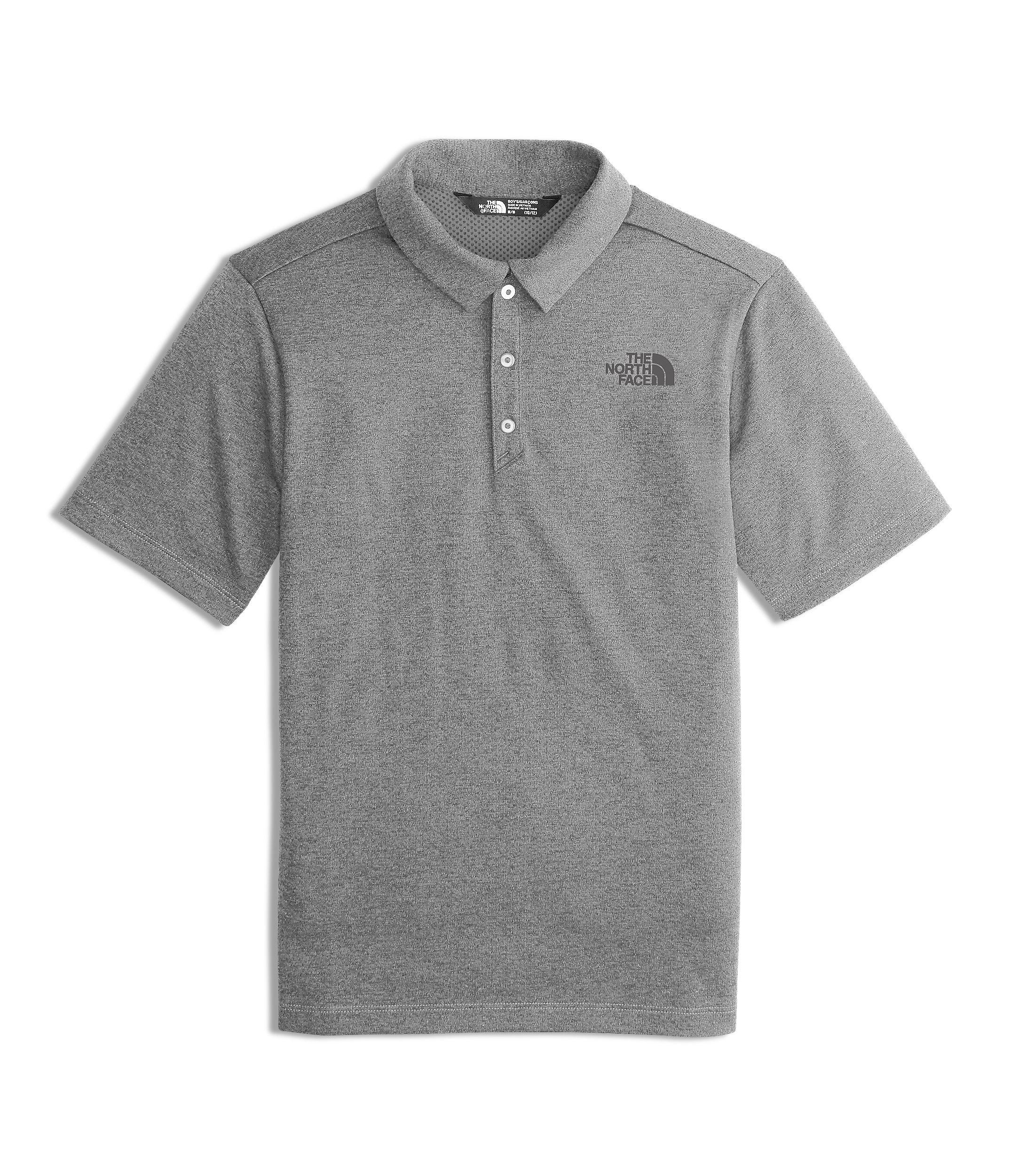 The North Face Boy's Polo Shirt - TNF Medium Grey Heather - L