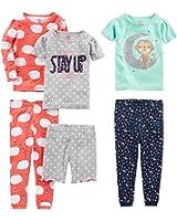 Simple Joys by Carter's Girls' 6-Piece Snug-Fit Cotton Pajamas