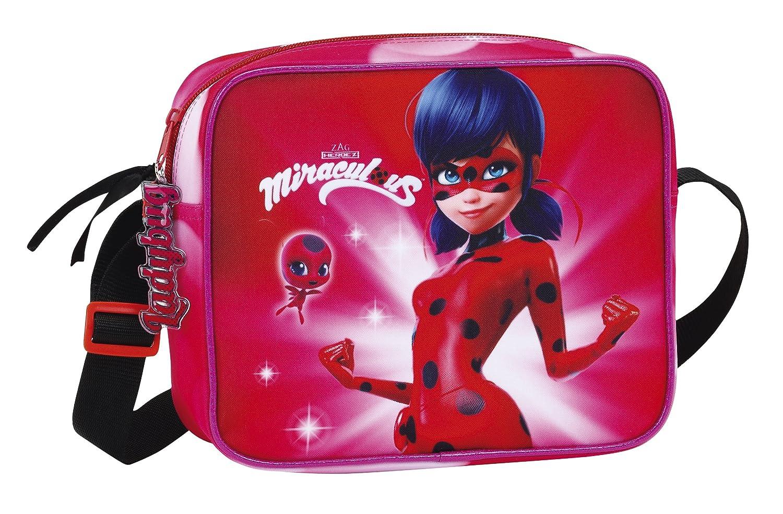 Ladybug Marinette Sac à bandoulière officiel, avec poche extérieure Safta 611712413
