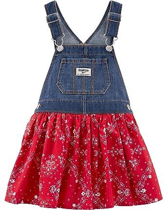 c8b841e4c57 Amazon.com  OshKosh B Gosh Baby Girls World s Best Overalls  Clothing