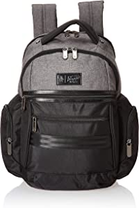 ORIGINAL PENGUIN Classics Backpack Fits Most 15-inch Laptop and Notebook, Black/Grey Crosshatch, One Size