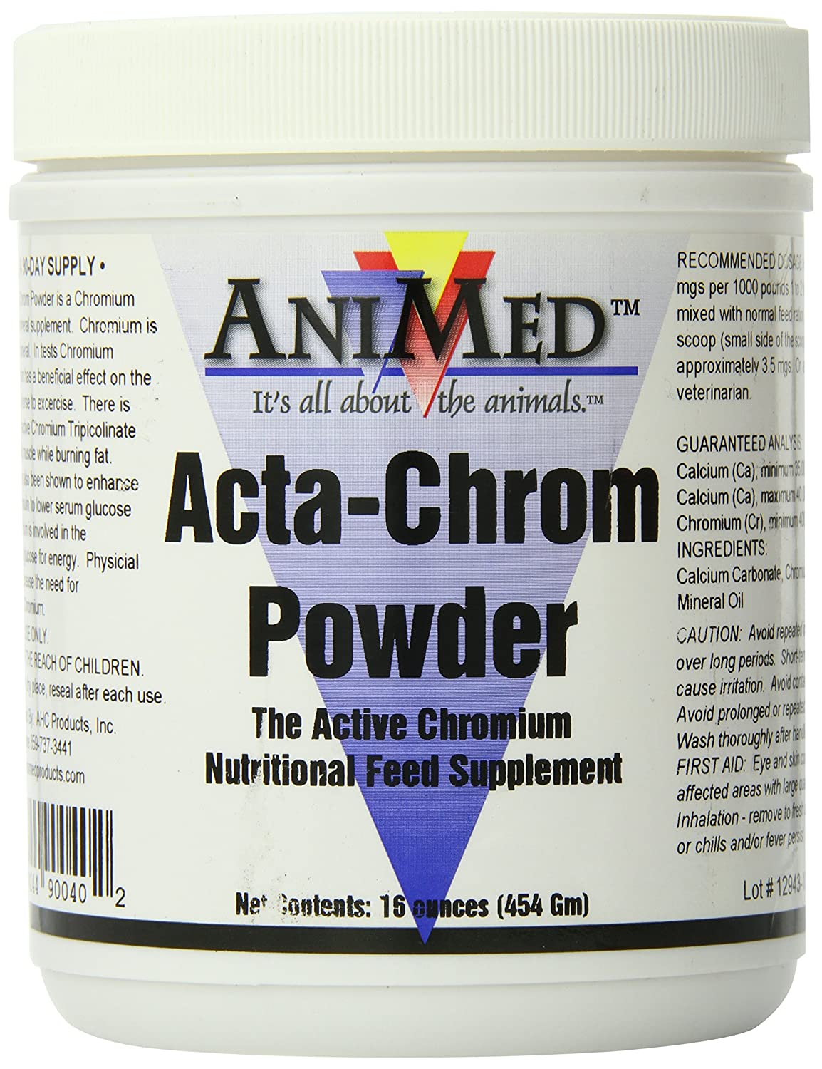 AniMed Acta-Chrom Powder Supplement for Horses 16-Ounce
