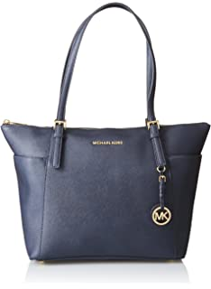 8007ecc5791919 Amazon.com: Michael Kors Jet Set Travel Ladies Medium Leather Tote ...