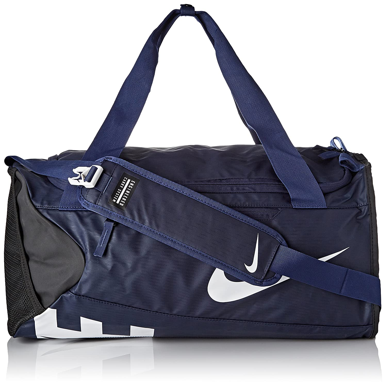 6caee6c4ccd Nike Unisex s Alpha Adapt Cross Body Duffel, Midnight Navy Black White,  53.5 x 28 x 25.5 cm  Amazon.co.uk  Sports   Outdoors