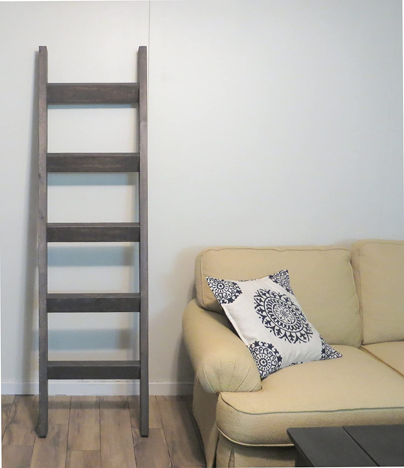 Amazon 6 Ft Blanket Ladder Decorative Wooden Quilt Joanna Chip Gaines HGTV Style Decor Rustic Pine Wood