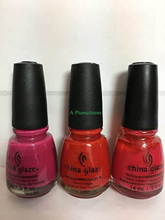 Amazoncom China Glaze Polish Set Of 3 70306 70307 70309