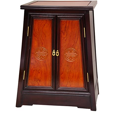 img buy Oriental Furniture Rosewood Long Life Cabinet - Two-tone