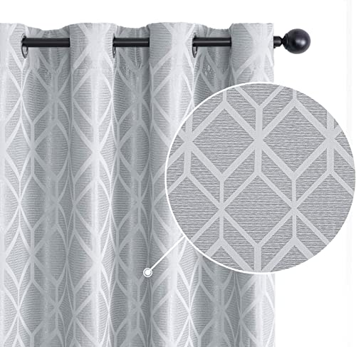 Topfinel Jacquard Room Darkening Curtains 96 Inches Long - a good cheap window curtain panel