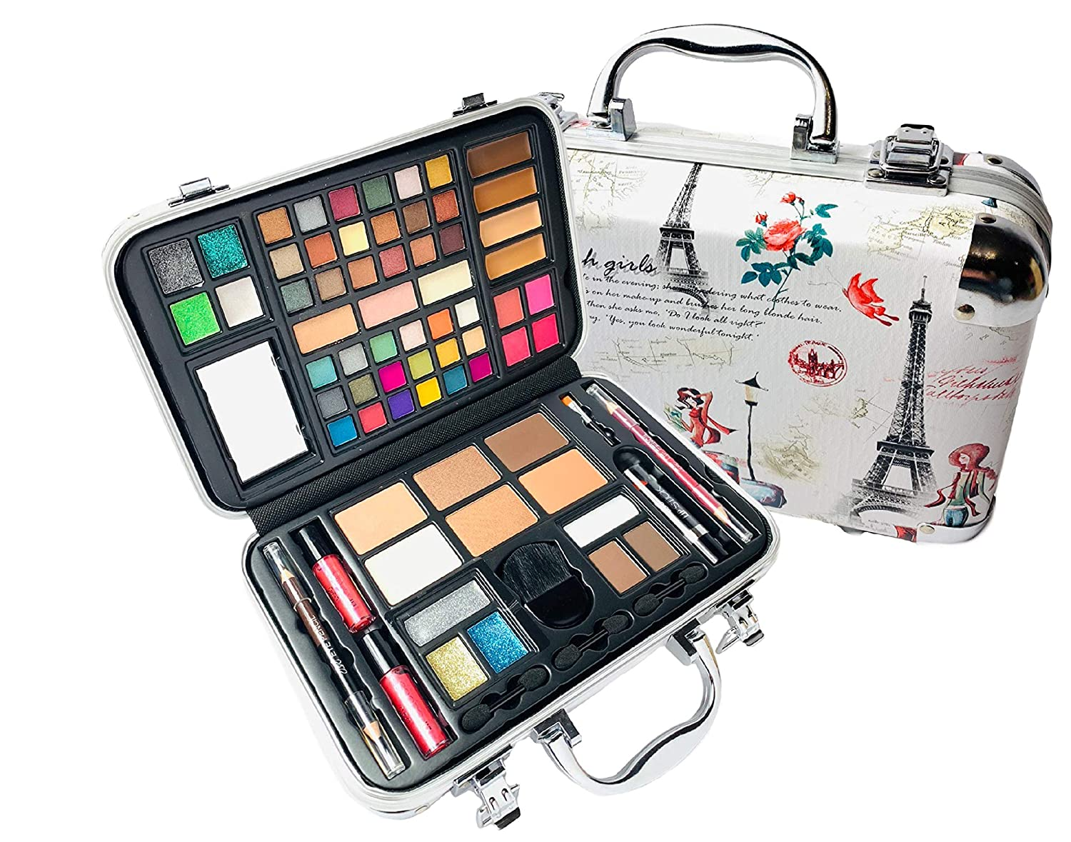 BR All In One Makeup Kit (Eyeshadow, Blushes, Powder, Lipstick & More) Holiday Gift Set (Pink)