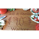 Personalized Anniversary Gift Cutting Board Any Year Customized 5th, 20th, 25th, 30th, 35th, 40th, 50th