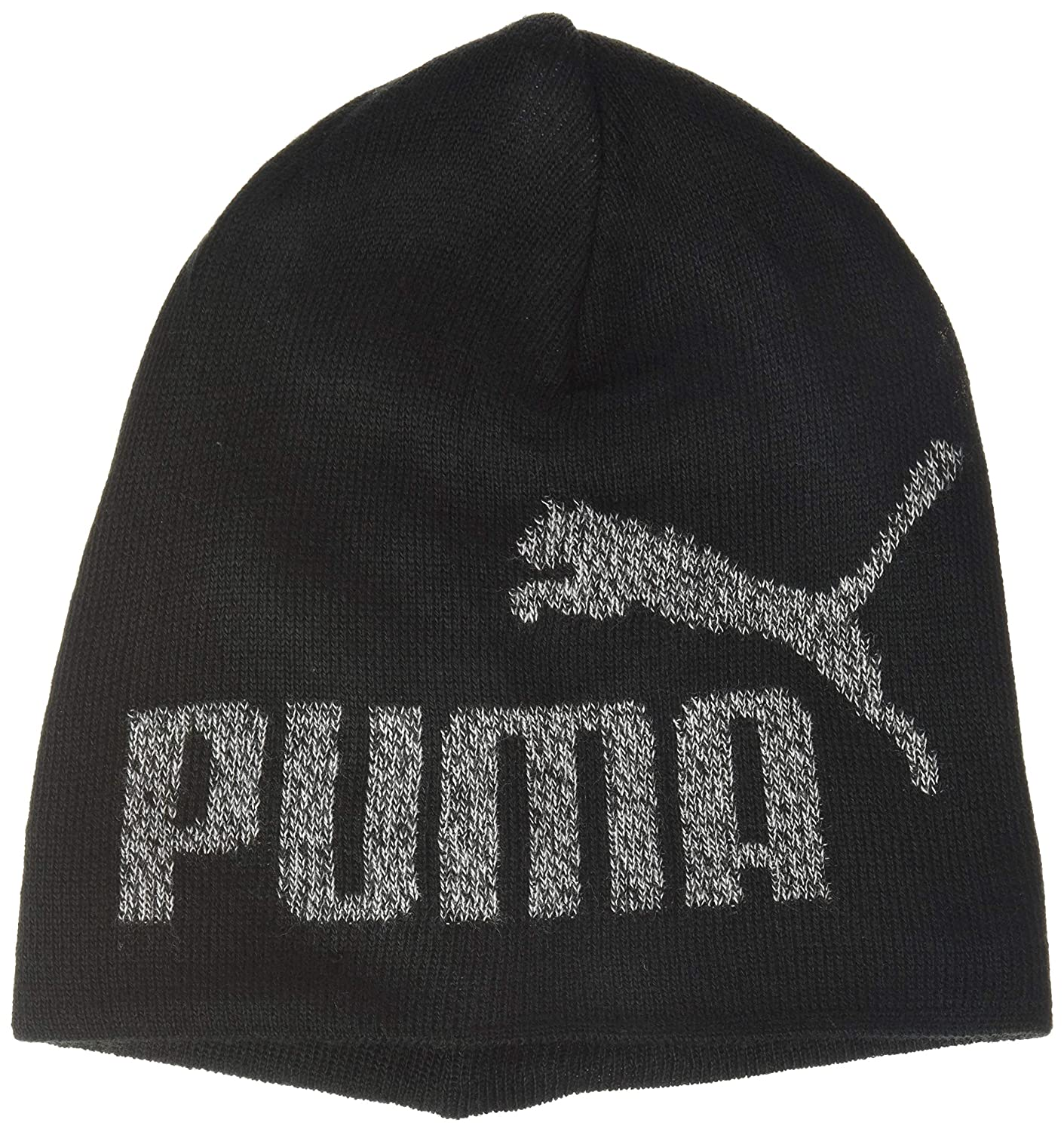 Unisex ni/ños Black-No 1 Youth PUMA ESS Logo Beanie Jr Gorro