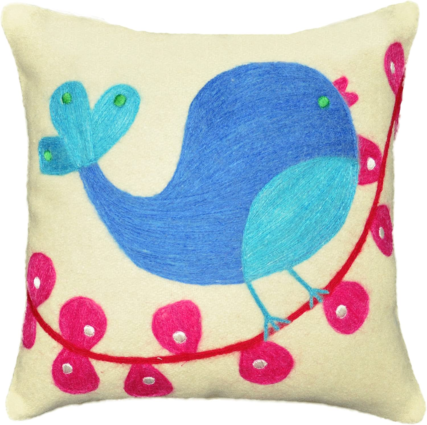 Be-You-tiful Home Tweety Bird Wool Felt Pillow, 12 by 12-Inch