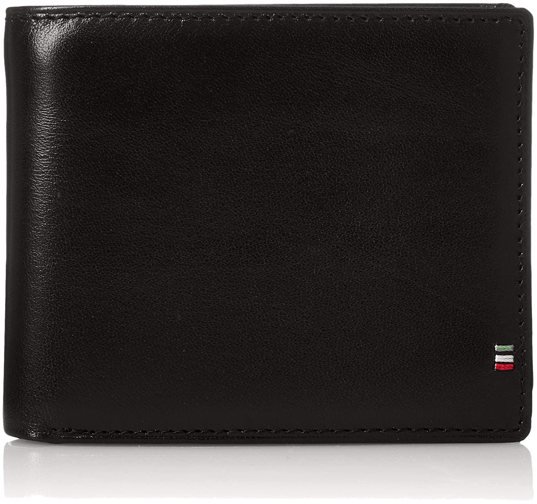 [ゴルベ] 二つ折り財布 イタリアンレザー ボックスコインケース 1000-32 B0793M7PFP ブラック/オレンジ ブラック/オレンジ