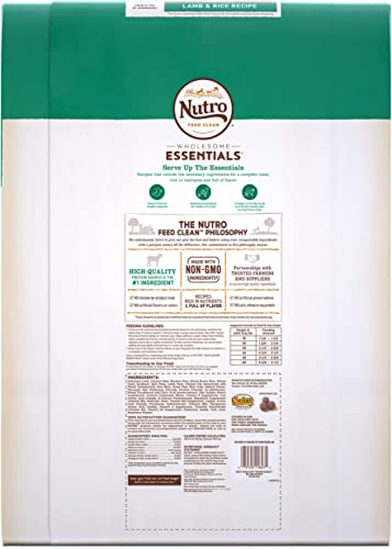 NUTRO WHOLESOME ESSENTIALS Adult Lamb Rice Recipe Dry Dog Food