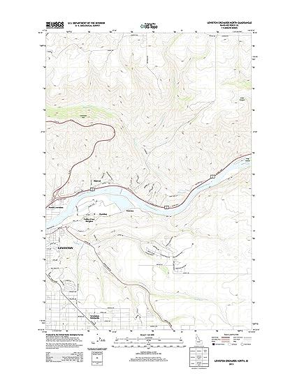 Amazoncom Topographic Map Poster LEWISTON ORCHARDS NORTH ID TNM