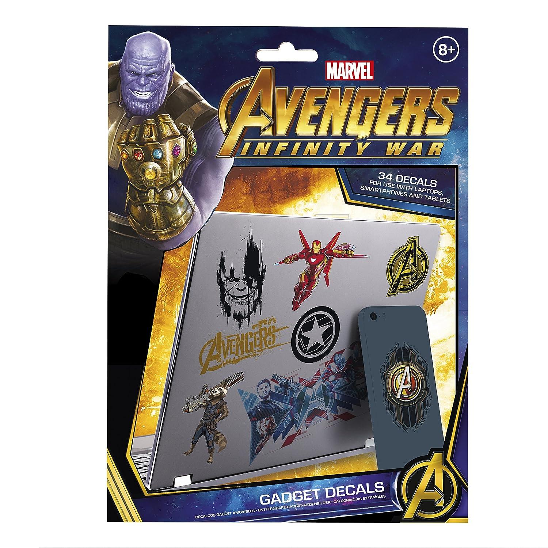 Marvel Avengers Infinity War Pegatinas, Vinilo, Multicolor Color, 21 x 15 x 1 cm