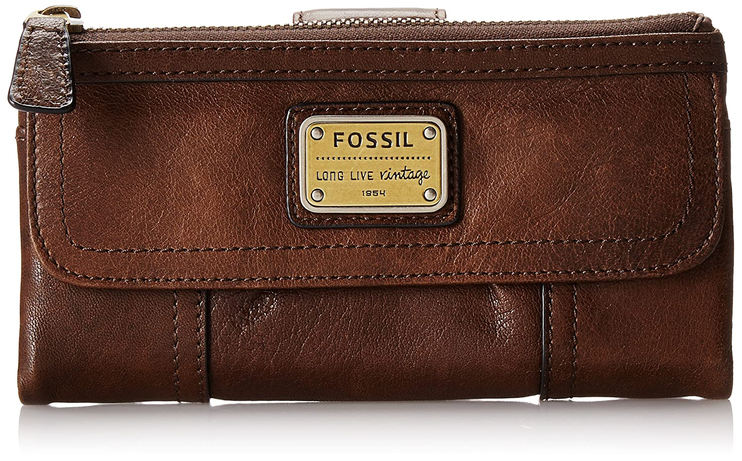 Fossil Emory Clutch Fossil Emory Wallet Espresso One Size Fossil Bags Women