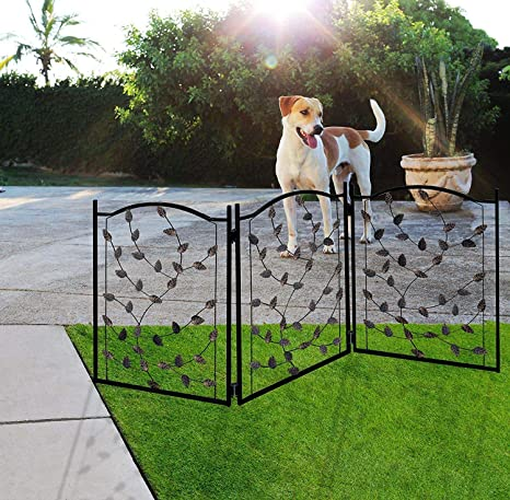 Beau Lexi Home Folding Pet Gate Leaf Design U2013 Retractable Dog Gate U2013 50u201d Dog  Gates