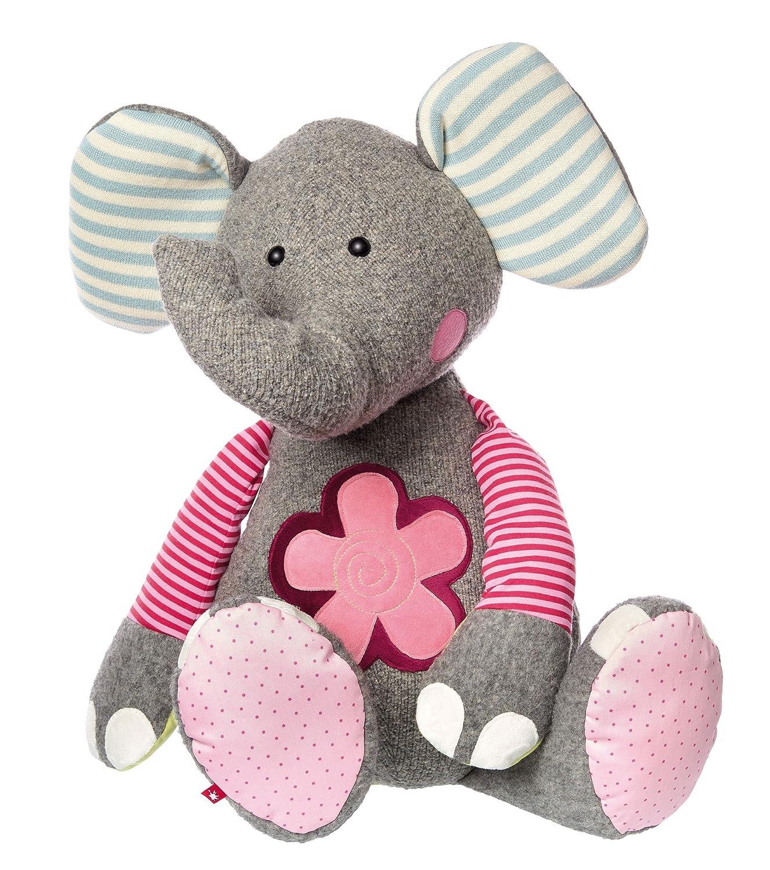 Elefant sigikid, Mädchen und Jungen, Stofftier Elefant XXL, Patchwork Sweety, Grau Bunt, 38748