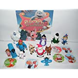 Rudolph the Red Nosed Reindeer Deluxe Figure Set of 18 Toy Kit with 12 Fun Figures and 6 Special Stickers Featuring Rudolph, Santa, Bumble, Misfit Toys and Much More!