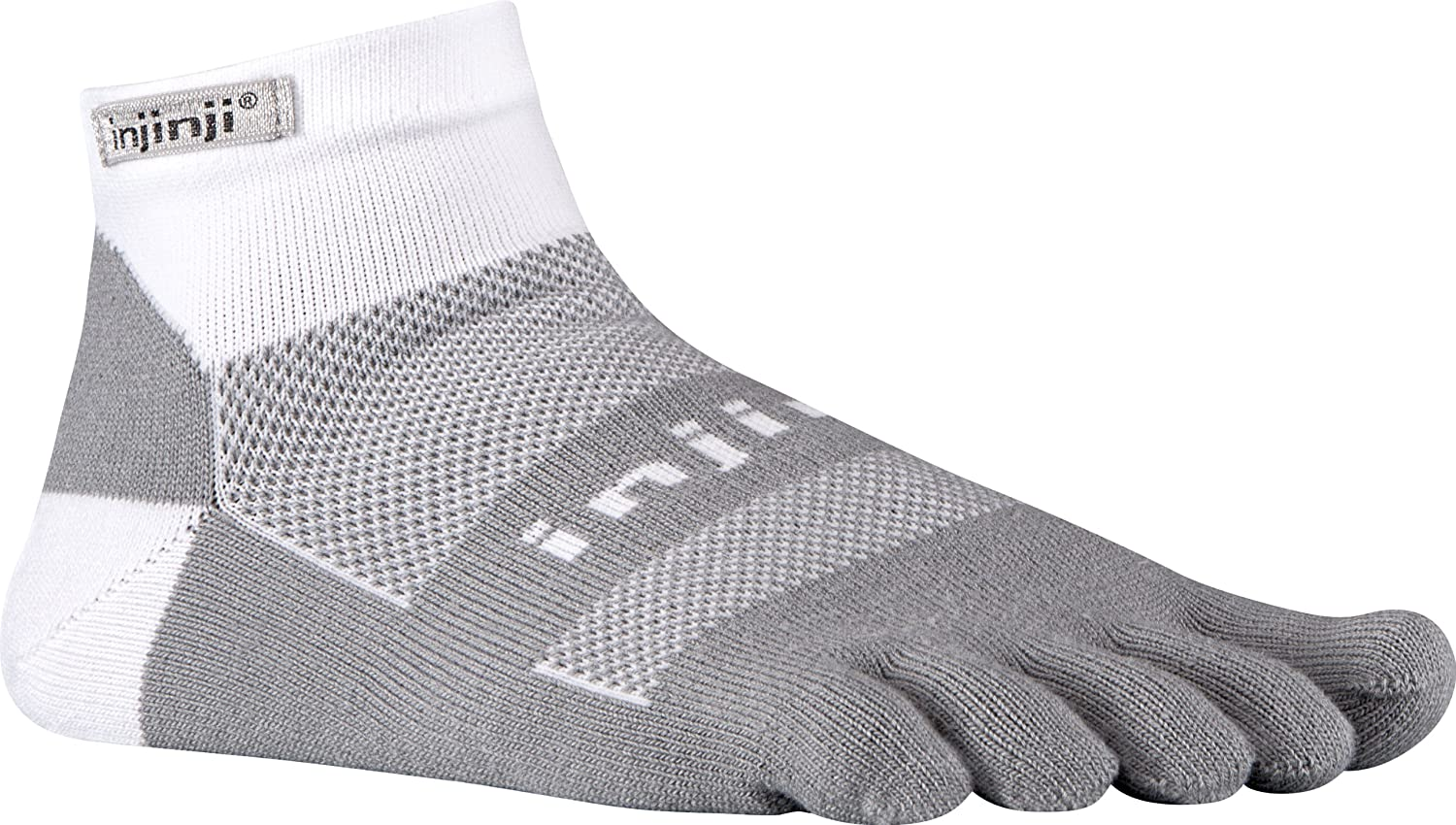 Injinji 2.0 Mens Run Midweight No Show Toesocks, White/Gray, Small: Amazon.es: Deportes y aire libre