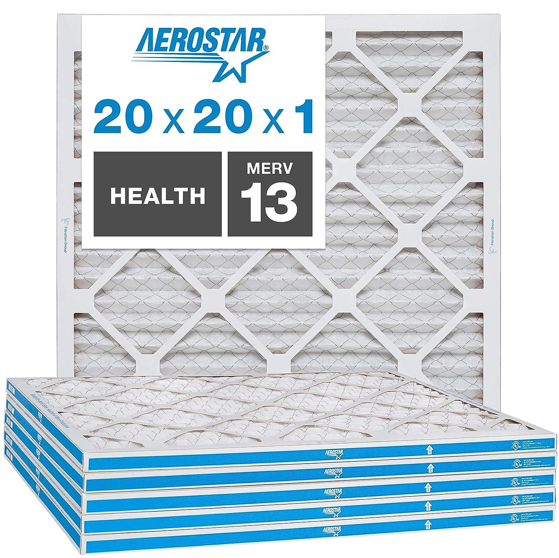 filtro de aire 20x20x1 MERV 13 captura virius pack 6