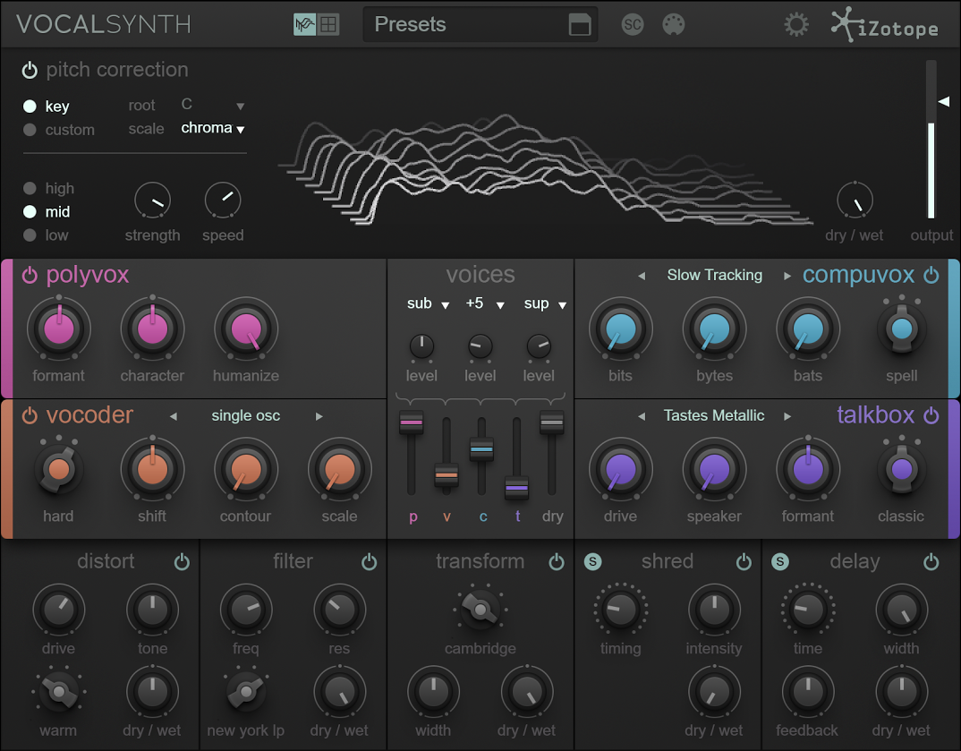 VocalSynth: Vocal Effects Plug-in, iZotope [Online