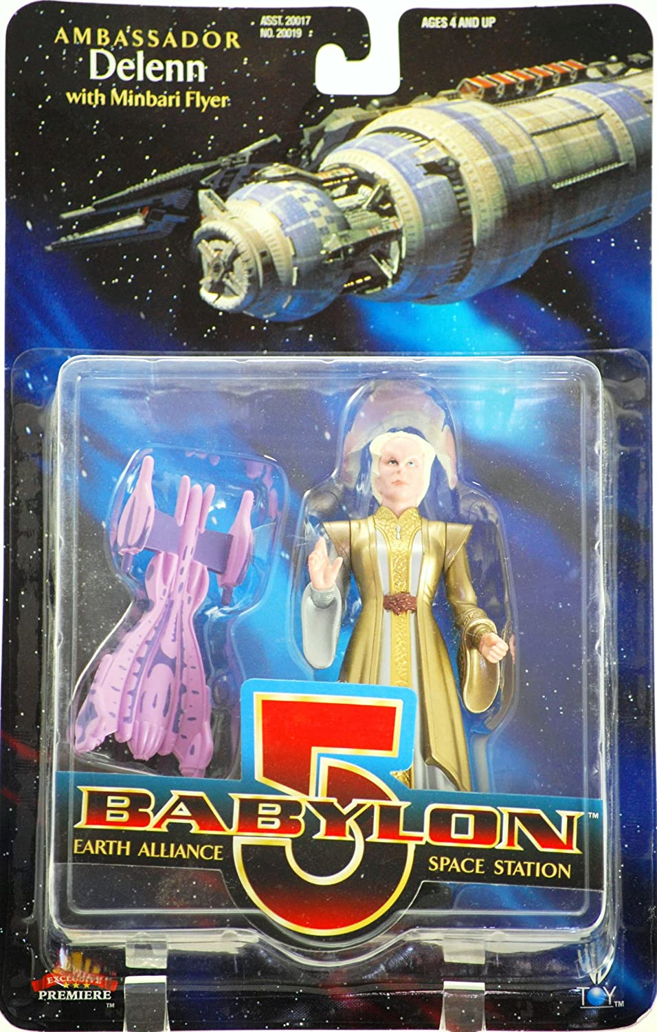 Bone Head Babylon 5 Ambassador Delenn 6in Figure w// Minbari Flyer Exclusive Premier 99-W057-N3T7