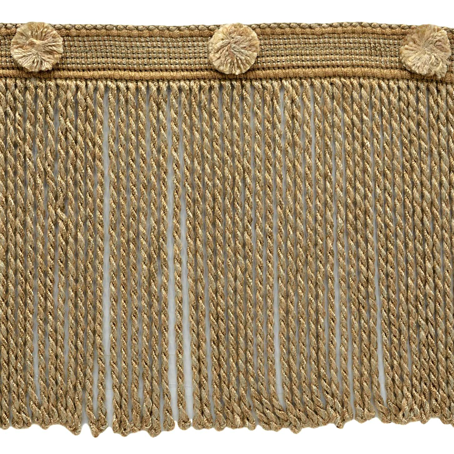 Straw Bullion Fringe Trim Style# BFHR6 Color: Blanc Navajo Sold by The Yard 81878 D/ÉCOPRO 6 Inch Long Caramel Beige