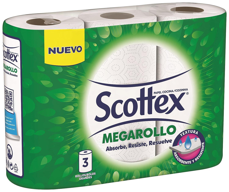 Scottex Rollo de Cocina Megarollo - 3 Rollos: Amazon.es: Amazon Pantry