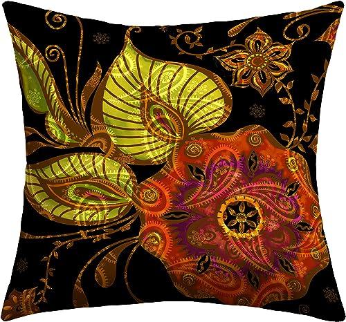Deny Designs Gina Rivas Design Exotic Floral Outdoor Throw Pillow, 16 x 16