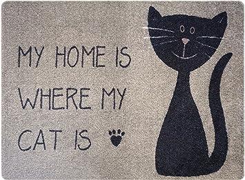 Deco-Mat Diseñador Felpudo (Gato para Hogar Puerta, Piso, Interior y Exterior