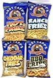 Andy Capp's Variety Pack (Hot Fries, Cheddar Fries, BBQ Fries, and Ranch Fries) (1 of each, total of 4)